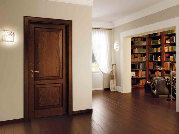 Porte classiche Modena - Porte interne in legno massello con vetro lusso Garo...